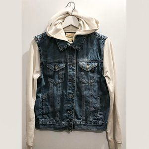 F21 Forever 21 Denim Hoodie Size Small